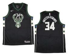 Youth Nike Giannis Antetokounmpo Bucks Black Statement Edition Swingman Jersey