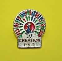 Pin's pin lapel P.S.T CREATION Animal Oiseau PAON Bird Peacock logiciel couleur