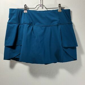 ATHLETA Swagger Skirt Skort L Tennis Pickle ball, Run. Blue Large