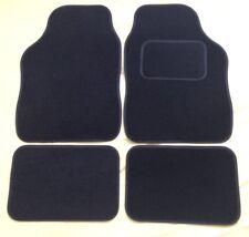 UNIVERSAL CAR FLOOR MATS BLACK WITH BLACK TRIM - PEUGEOT 206 (1998-2010)