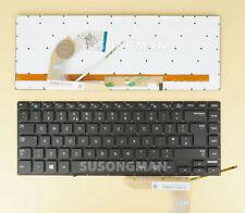 New For Samsung NP500P4A NP500P4C Keyboard UK Backlit No frame black