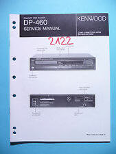 Manuel de reparation pour Kenwood DP-460 ,ORIGINAL