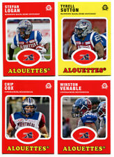 2016 OPC CFL Montreal Alouettes Lot of 4 Cards Stefan Logan, Chip Cox more