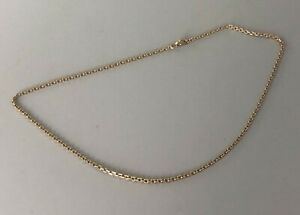 Vintage 9ct Yellow Gold Chain Necklace 6.6g 42cm AZX