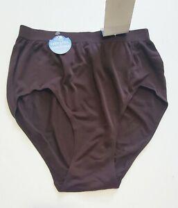 2 Bali Comfort Revoltion Seamless Brief Panty Dark Roast Brown 803J Sz 8/9 - NWT