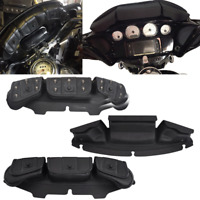 Black Windshield Batwing Fairing 3 Pocket Pouch Bag for Harley Touring 96-13