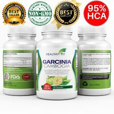 100% Pure GARCINIA CAMBOGIA 95% HCA Diet Pills Weight Loss Fat Burner 60 Capsule