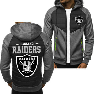 HOT! Oakland Raider Hoodie Classic Autumn Hooded Sweatshirt Jacket Coat Top Tops