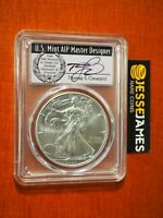 2020 SILVER EAGLE PCGS MS70 THOMAS CLEVELAND FIRST DAY OF ISSUE FDI WREATH LABEL