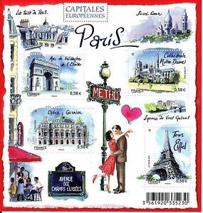 """France - """"EIFFEL TOWER ~ EUROPEAN CAPITALS ~ PARIS"""" Mini Sheet MS 2010 !"""