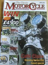 THE CLASSIC MOTOR CYCLE MAGAZINE JUN 2004 GREEVES SPORTS TWIN TRIUMPH AERO DOUGL