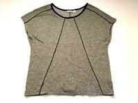 Cato Womens Shirt w/ metallic Size Large Short Sleeve