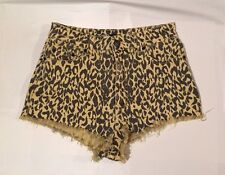 BDG High Rise Cheeky Womens Shorts Leopard Print Size 30