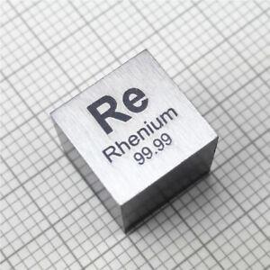Rhenium Metall 10mm Würfel 99.99% Elementesammlung Element Re Probe 20.8+/-0.1g