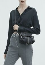 New Alexander Wang Mini Marti Cross Body Bag Black Leather Silver hardware $850