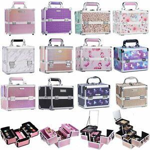 Large Womens Vanity Case Beauty Box Make up Cosmetic Nail Tech Storage Travel