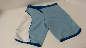 New Genuine SeaDoo Womens Lilypad Board Shorts Size 30 Blue White Quick-Dry