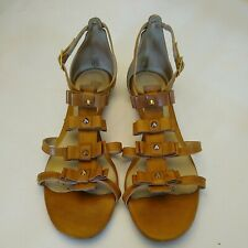 Pour la victoire 8.5 Gladiator Sandals light brown studded Beach Brazil