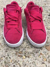 Puma Suede Heart Preschool Snk Toddler Girls Pink Sneaker Shoes Size 3