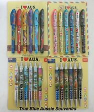 24x Australian Souvenir Pens - Bulk Savings! Sydney Aboriginal Art Kangaroo