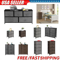 Nightstand 3/4/5/7 Drawers Bedside End Table Chest Storage Organizer Furniture