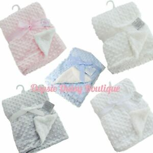 Deluxe Supersoft Baby Blanket Cosy Sherpa Back