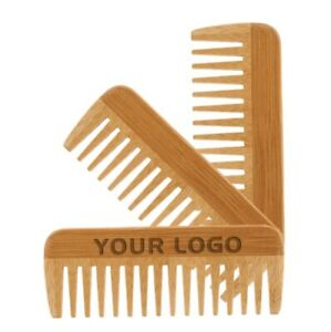 Customized LOGO-Bamboo Beard Combs Hair Comb for Men & Women Hair Care Brush