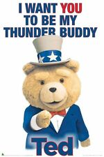 TED MOVIE POSTER ~ THUNDER BUDDY 24x36 Seth MacFarlane I Want You To Be My