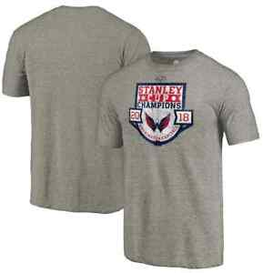 Washington Capitals 2018 Stanley Cup Champions Tri-Blend T-Shirt Men's Small