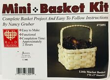 Little Market Basket Weaving Kit, Basket Making, Weaving Supplies, Reed, Pattern