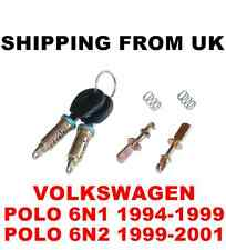 DOOR LOCK SET ANTERIORE SINISTRA DESTRA 2 Barrel + 2 CHIAVI UGUALI VW POLO MK3 6N1 6N2 56MM