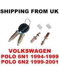 DOOR LOCK SET FRONT LEFT RIGHT 2 BARREL + 2 SAME KEYS VW POLO MK3 6N1 6N2  56mm