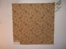 """Highland Court """"Faded Glory"""" embroidered floral remnant for craft color whiskey"""