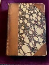 """""""THE INITIALS"""" BARONESS TAUTPHOEUS , 1854 MARBLED W/ LEATHER, 2 VOLUMES IN 1!"""