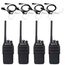 4pcs PMR446MHZ Retevis RT24 Funkgeräte UHF 16 Kanäle Walkie-Talkie mit Headsets