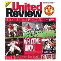 Jermaine Beckford Signed Leeds United Man Utd Programme Autograph Memorabilia