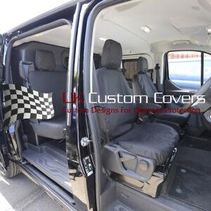 Ford Custom Transit Dciv 5 Sièges 2013+ Avant Arrière Seat Housses Noir 275 131