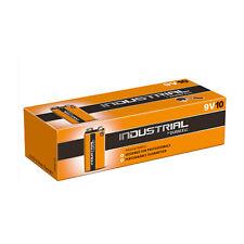 10 x DURACELL INDUSTRIAL ALKALINE HOCHLEISTUNGS 9VOLT Blockbatterie MN1604 6LR61