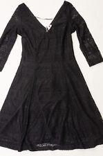Esprit NEU Damen Party Kleid Business Etui kurzarm Spitze Kleid Gr.34 S schwarz