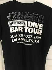 John Mayer Los Angeles Bud Light Dive Bar Exclusive T Shirt Men's Medium Rare