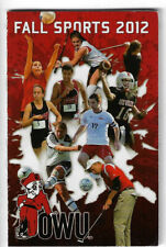 New listing 2012 OWU College Field Hockey Soccer Football Schedule !!!