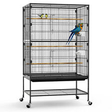 """Yintatech 52"""" Large Pet Bird Cage On Wheels Parrot Parakeet Canary Finch Conure"""