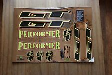 Reproduction 1995 Gt Performer Bmx Decal Set-Chrome Support