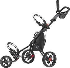 Caddytek 3 Wheel Golf Push Cart CaddyLite 11.5 3 Wheels Golf Caddy Cart Black