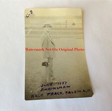 Antique Original Photo Rockingham Race Track Salem New Hampshire June 1937 #10