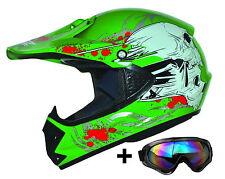Kids Pro Kinder Motocross Helm Enduro Brille Motorradhelm ATO MX Crossbrille