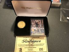 Highland Mint Alex Rodriguez Fleer Tradition Auto Card/Gold Coin Set #30/200.