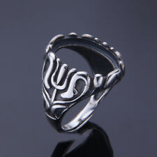 14*18mm 925 STERLING SILVER Semi Mount ring Bases Blanks VINTAGE jewelry P2113