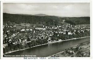 Foto-AK WALDSHUT /Rhein Luftbild 30er Ja.