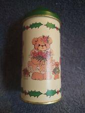 """New listing Lucy Rigg Collector Tin- Christmas Bears-1985. 5 1/4"""" High"""